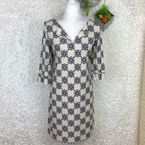 Laundry by Shelli Segal Geo-Print Dress L
